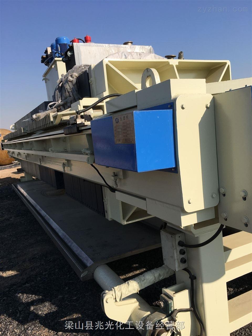 二手200平方海江程控自动拉板隔膜压滤机