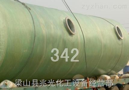 二手40吨立式玻璃钢罐防腐蚀卧式储罐