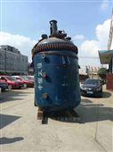 转让二手5吨3吨开式搪瓷反应釜外夹套加热