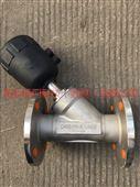 不锈钢法兰气动角座阀Y645W-16P塑料头