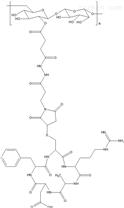 葡聚糖-多肽,Dextran-cRGD的結構式