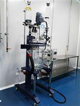 雙層玻璃反應釜自動升降變頻調速