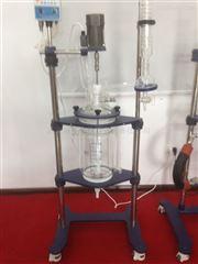 YSF-100L玻璃反应釜反应结束后能彻底排除,无积液
