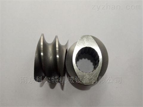南京科尔特6542料T50机塑料造粒机螺纹块