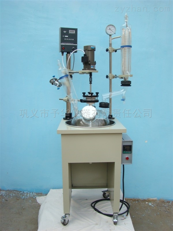 单层玻璃反应釜主体是不锈钢铝合金耐腐耐用
