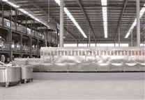 五谷雜糧熟化設備采用連續式微波干燥機