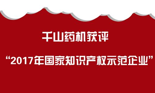 """千山药机获评""""2017年国家知识产权示范企业"""""""