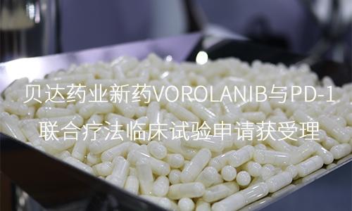 贝达药业新药Vorolanib与PD-1联合疗法临床试验申请获受理